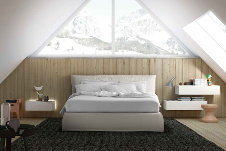 Piumotto Bed :  Bedroom by Campbell Watson