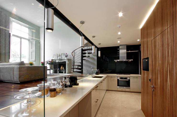 Level Spirit—Boltons Place, South Kensington, London.:  Kitchen by Elan Kitchens