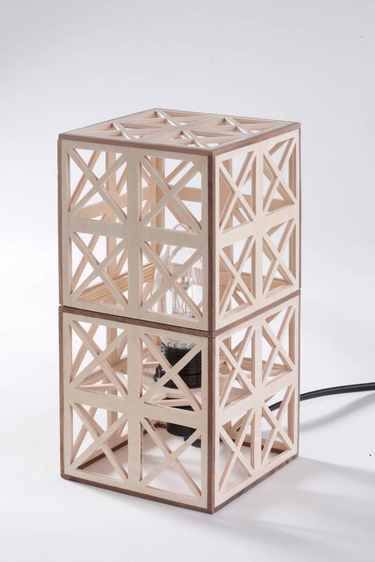 Tafellamp:   door Design X Ambacht, Industrieel