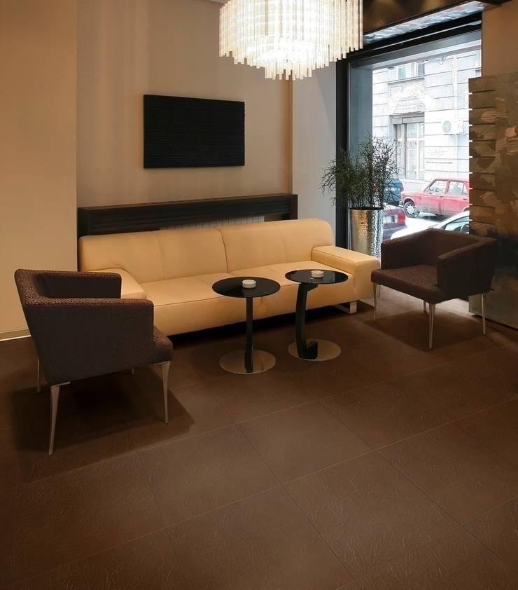 Corium (Cork & Leather):  Walls & flooring by Granorte