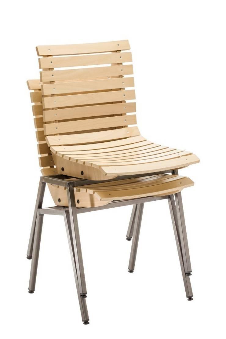Stapelbare stoel T Huis :  Gastronomie door Design X Ambacht, Industrieel
