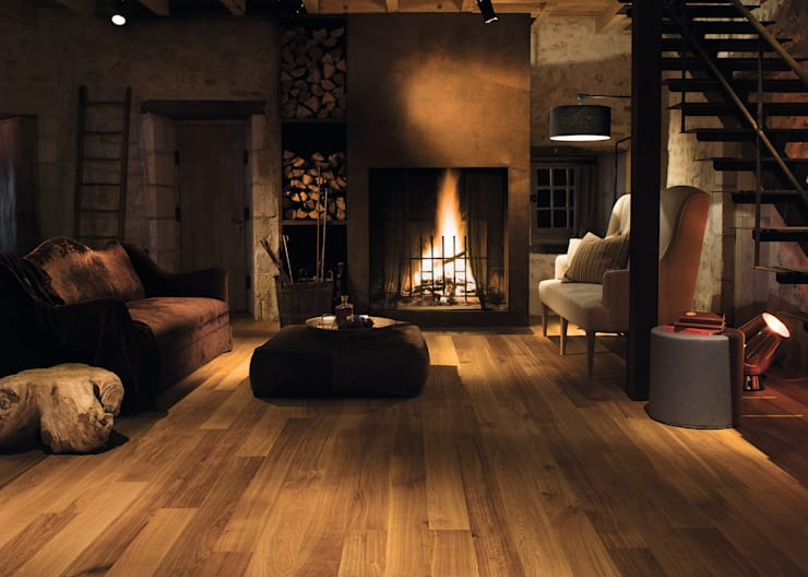 Honey Oak Oiled:  Walls & flooring by Quick-Step