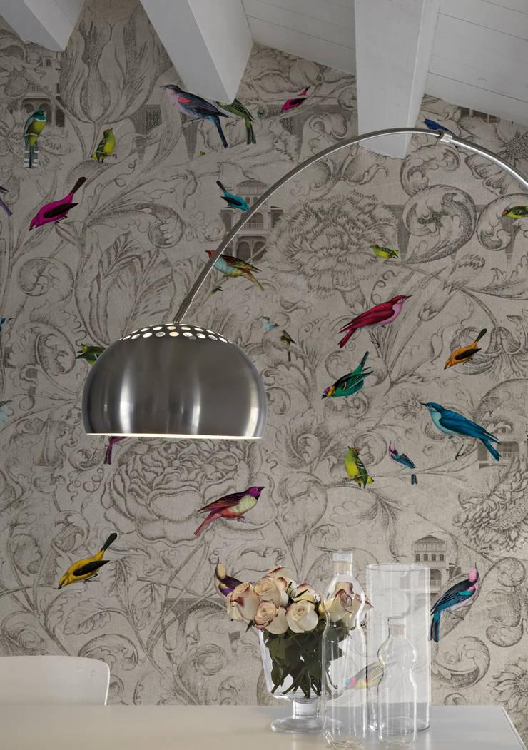 Katmandu Mural wallpaper: Paredes y suelos de estilo  de Tres Tintas Barcelona