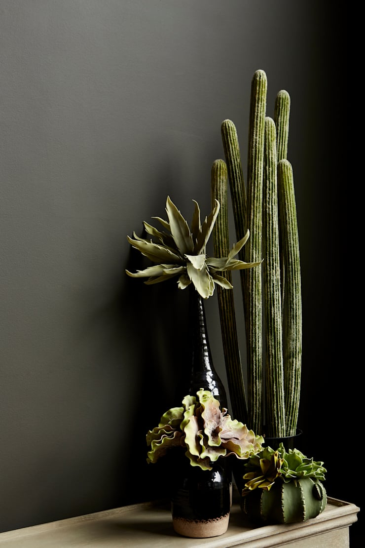 Mohave faux cactus:  Interior landscaping by Abigail Ahern