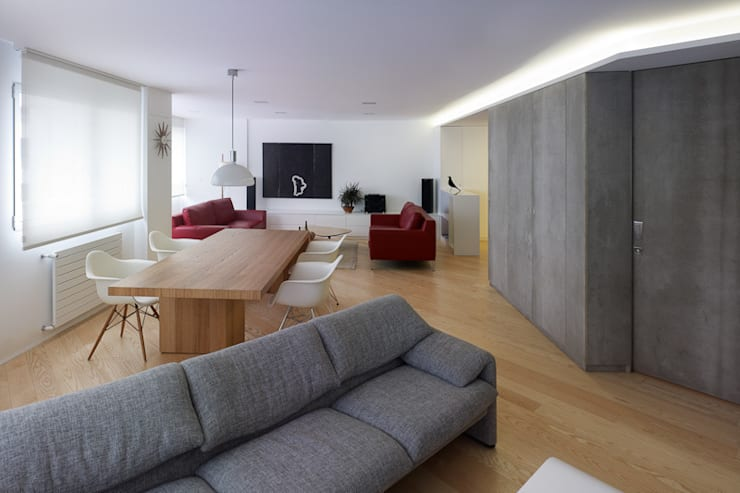 Living room by Castroferro Arquitectos