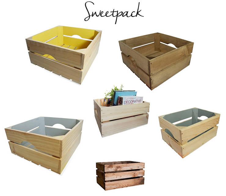 """Decora tu hogar con cajas de madera de """"Sweetpack"""": Hogar de estilo  de Chicplace"""