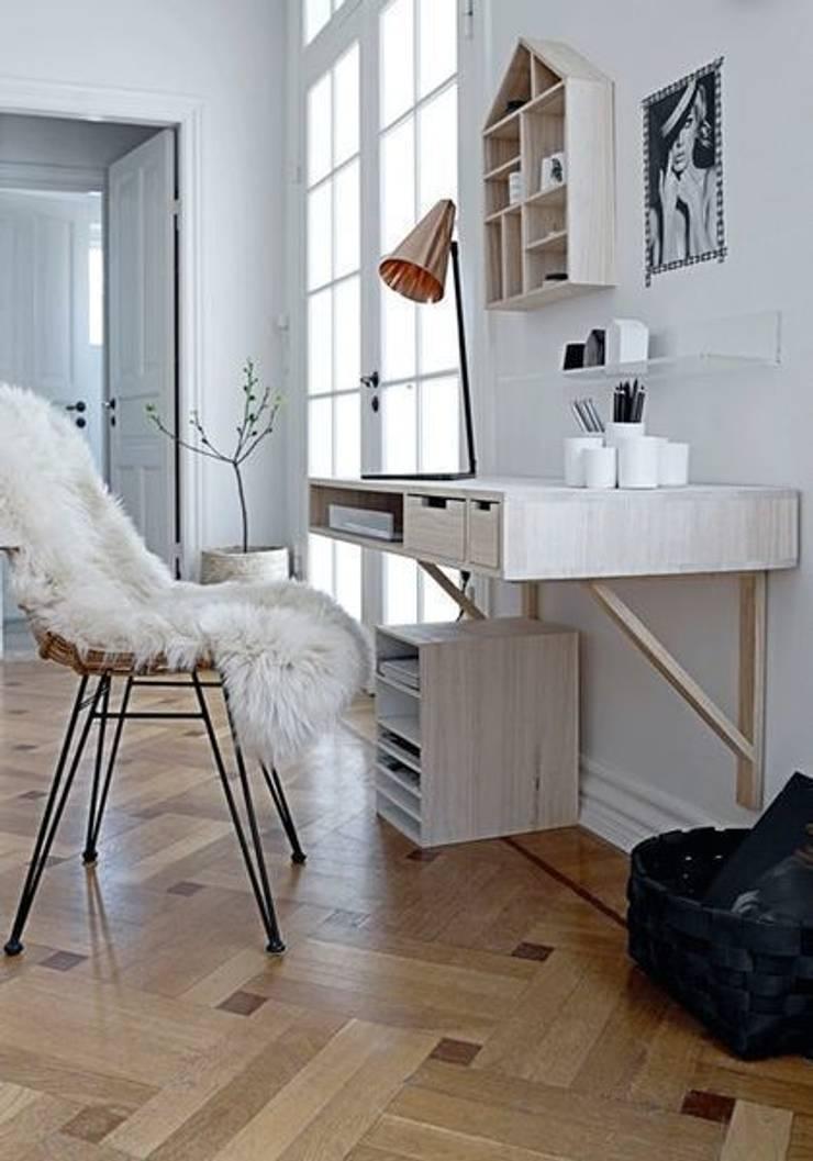 Piel de cordero color blanco : Hogar de estilo  de Chicplace