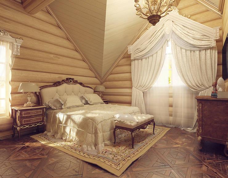 Деревянный дом для отдыха.: Спальни в . Автор – Tutto design