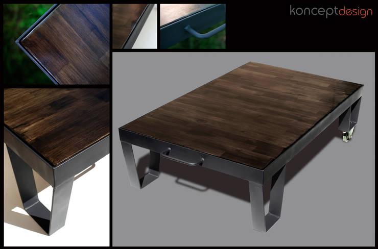 """Stół """"Platforma"""": styl , w kategorii Salon zaprojektowany przez Konceptdesign"""