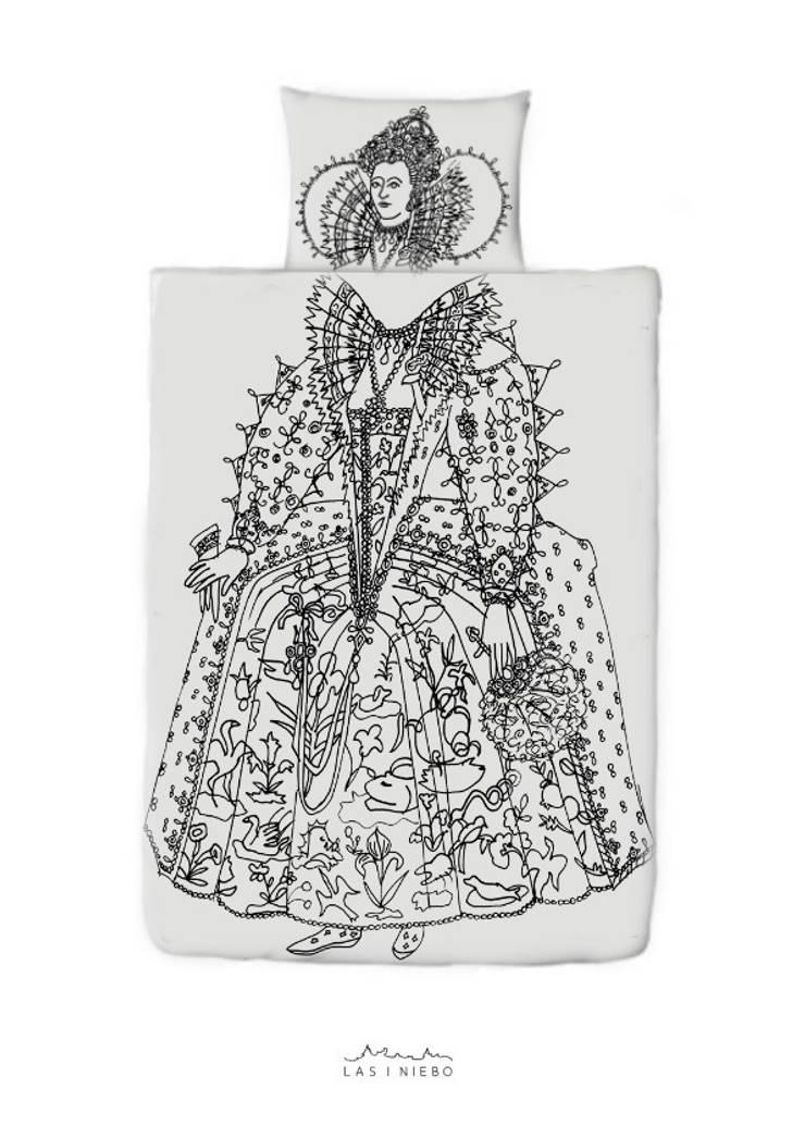 Pościel Elizabeth: styl , w kategorii Sypialnia zaprojektowany przez Las i niebo