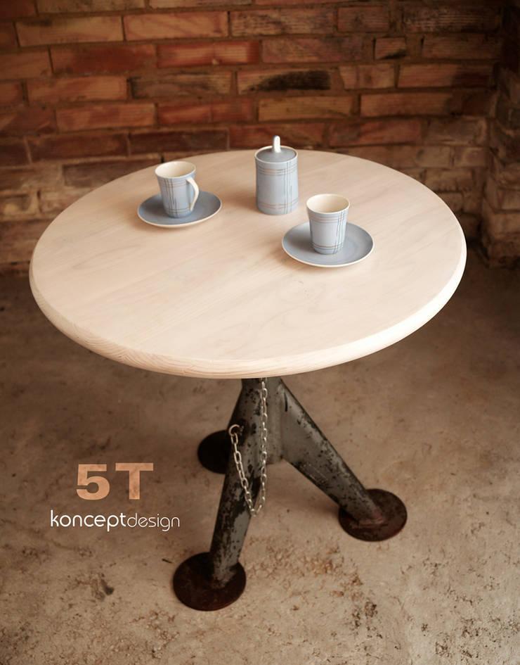 Stół 5T: styl , w kategorii Salon zaprojektowany przez Konceptdesign