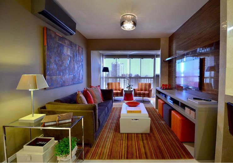 Apartamento Urban: Salas de estar  por Studio Cinque,Moderno