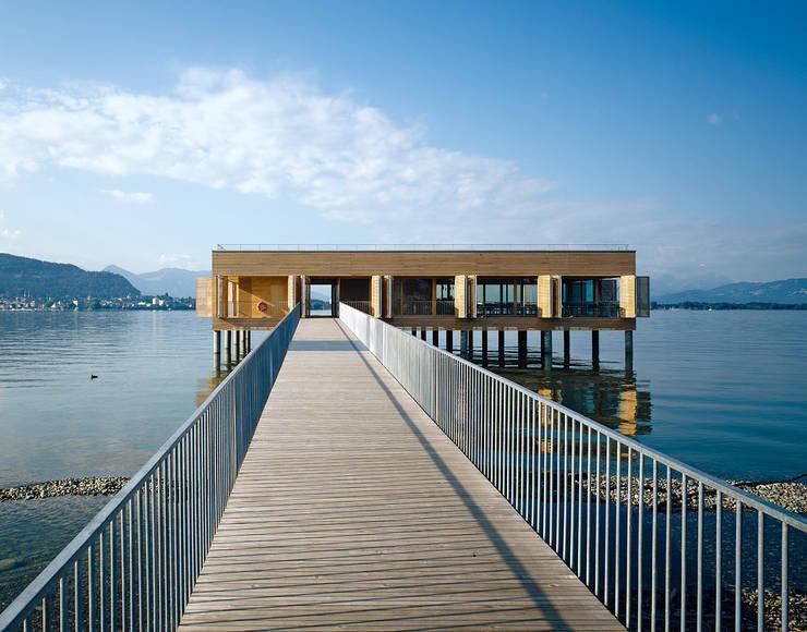 Badehaus am Kaiserstrand, Lochau-Bregenz:  Gastronomie von Lang + Schwärzler Architekturbüro