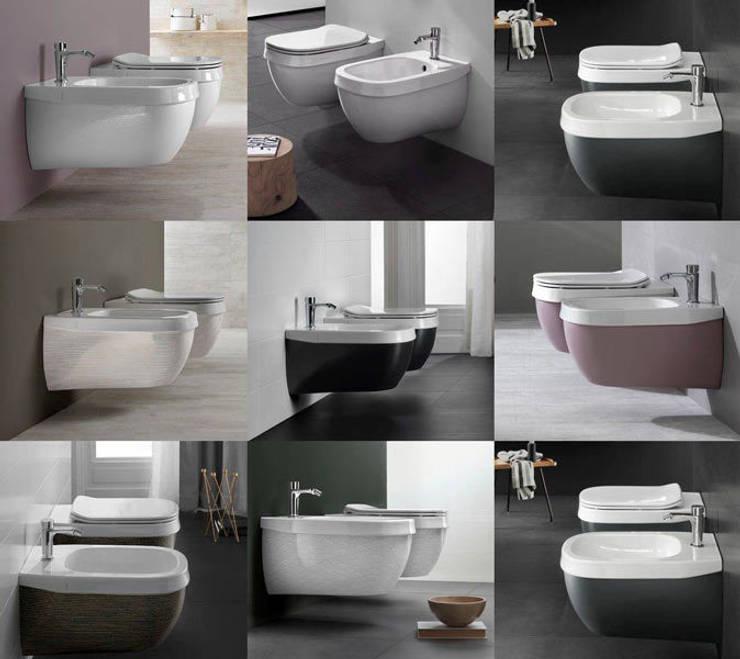 Geef kleur aan uw eigen sanitair: modern  door Badkamer & Tegels magazine, Modern