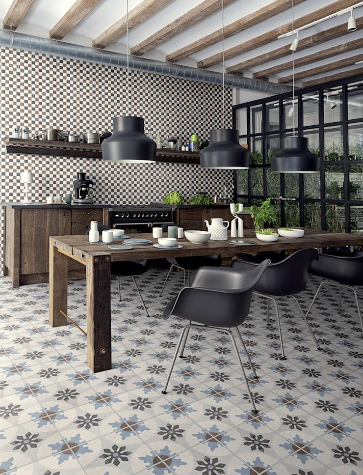 Ceramica Fioranese Cementine:  Keuken door Badkamer & Tegels magazine, Mediterraan