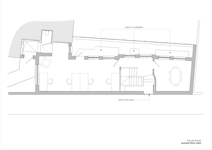 Old Workshop - ground floor plan:   by Jack Woolley