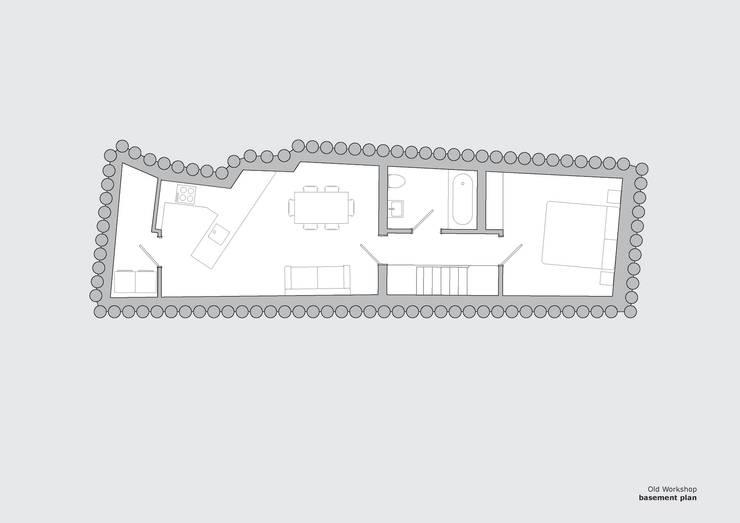 Old Workshop - basement plan:   by Jack Woolley