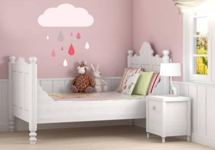 Gouttes de pluie colorées pour filles: Chambre d'enfants de style  par wall-art.fr