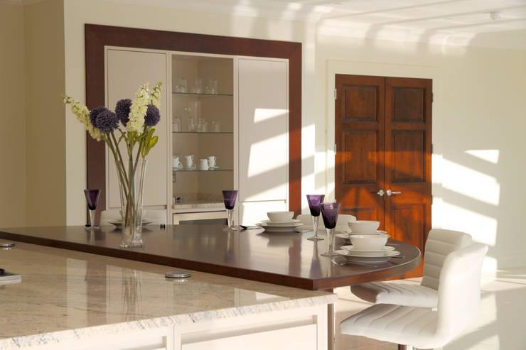 Large contemporary kitchen, Hertfordshire:   by John Ladbury and Company