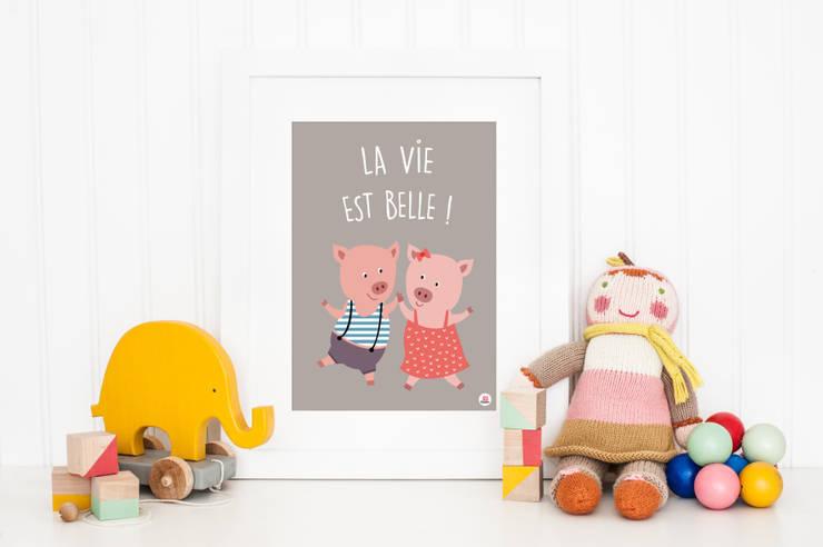 Poster La vie est belle: Chambre d'enfants de style  par Boum badaboum