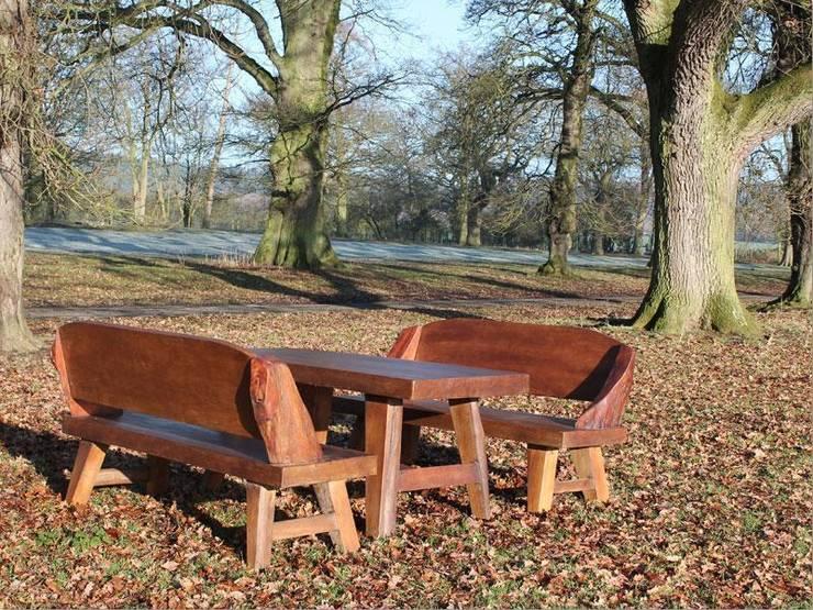 Flintstones Bench Set:  Garden  by Garden Furniture Centre
