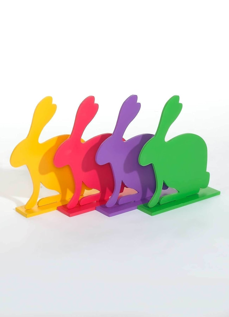 Coloury Rabbit set 4 dlg:  Kantoren & winkels door EtalageDecoratie.nl