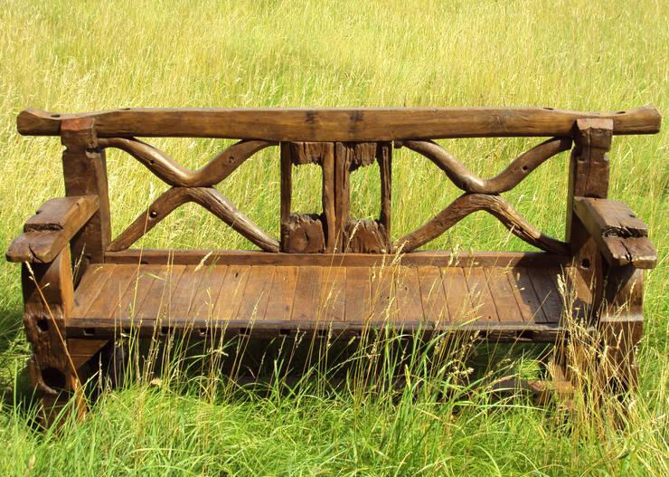 Ox Cart Axl Bench:  Garden  by Garden Furniture Centre