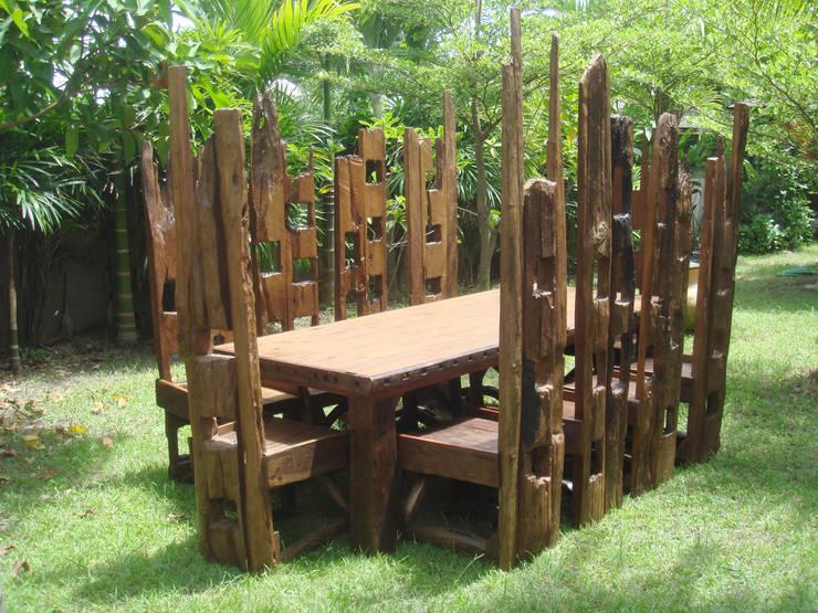 10 High Chair Set:  Garden  by Garden Furniture Centre