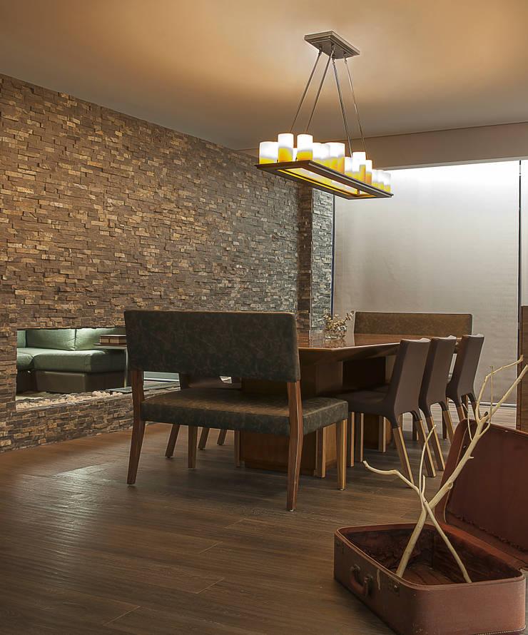 Salas de jantar  por kababie arquitectos