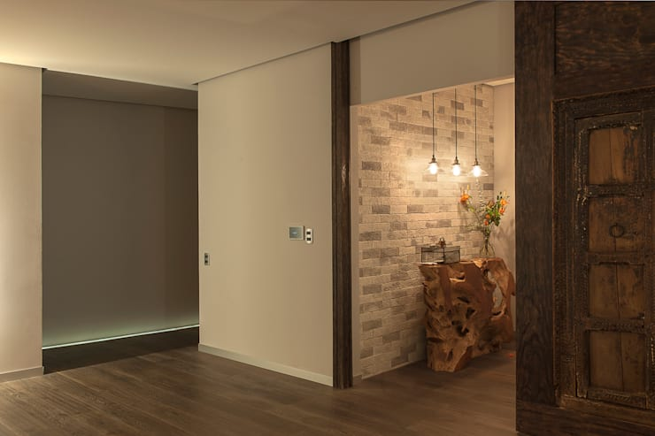 Projekty,  Korytarz, hol i schody zaprojektowane przez kababie arquitectos