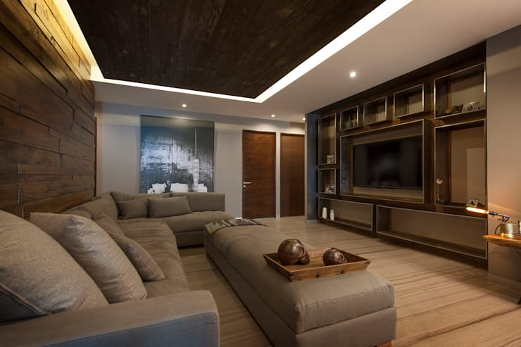 modern Living room by kababie arquitectos