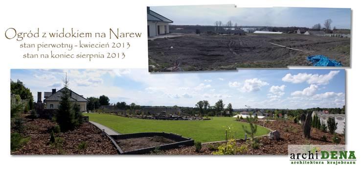 Ogród z widokiem na Narew: styl , w kategorii  zaprojektowany przez archiDENA architektura krajobrazu