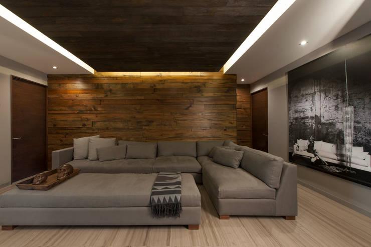 Departamento CM: Salas de estilo  por kababie arquitectos