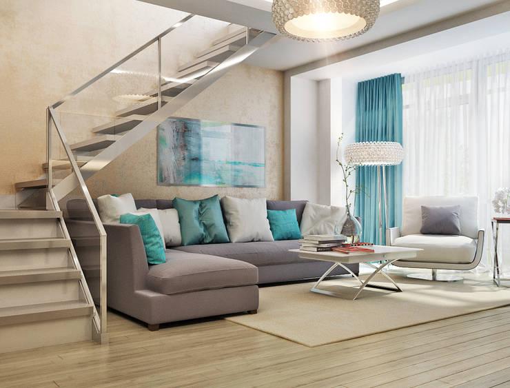 Salas de estilo  por Студия дизайна Interior Design IDEAS