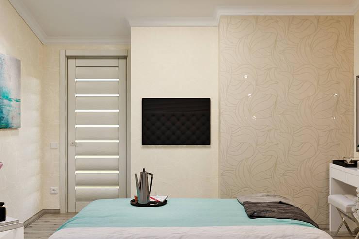 Двухуровневая квартира в морском стиле: Спальни в . Автор – Студия дизайна Interior Design IDEAS