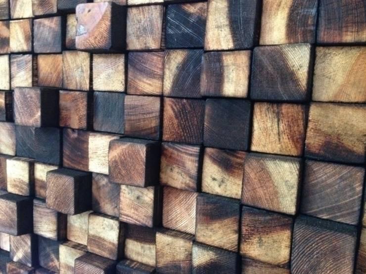 Zagłówki: styl , w kategorii Sypialnia zaprojektowany przez DrewnianaŚciana