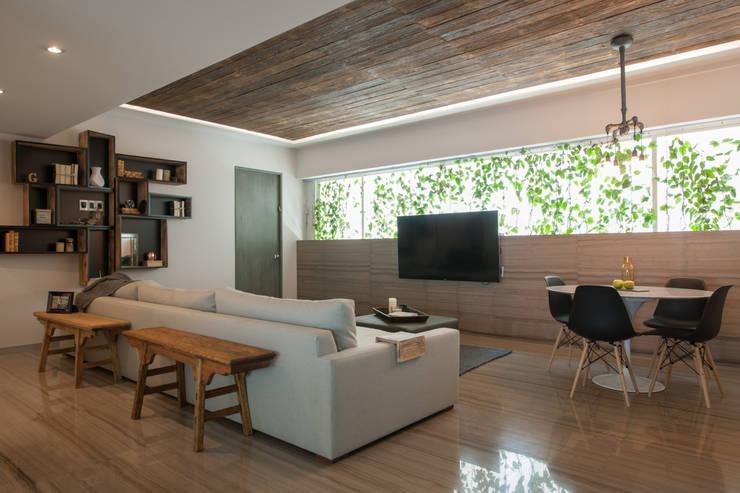 غرفة المعيشة تنفيذ kababie arquitectos