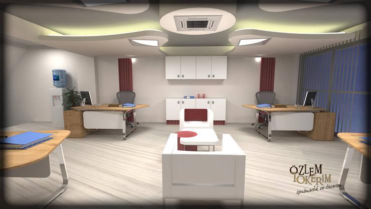 özlem tokerim iç mimarlık ve tasarım – ofis tasarımı:  tarz Ofis Alanları & Mağazalar
