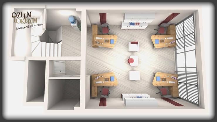 özlem tokerim iç mimarlık ve tasarım – modern ofis tasarımı:  tarz Ofis Alanları & Mağazalar
