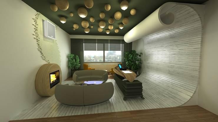 özlem tokerim iç mimarlık ve tasarım – benim odam...:  tarz Ofis Alanları & Mağazalar