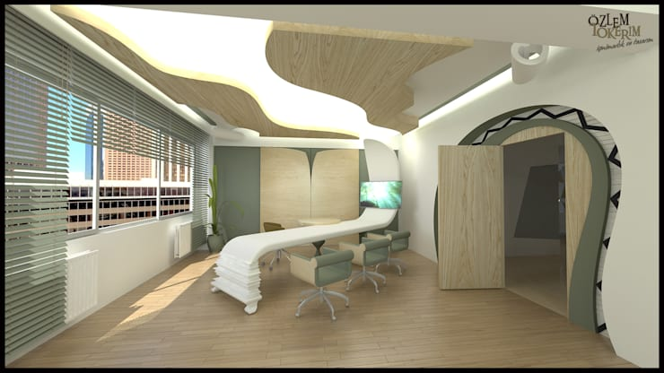 özlem tokerim iç mimarlık ve tasarım – toplantı odam..:  tarz Ofis Alanları & Mağazalar