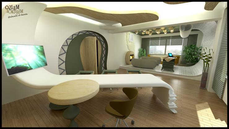 özlem tokerim iç mimarlık ve tasarım – odam...:  tarz Ofis Alanları & Mağazalar