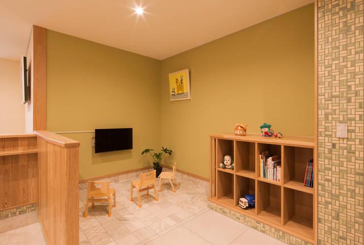 キッズコーナー: 矩須雅建築研究所が手掛けた子供部屋です。