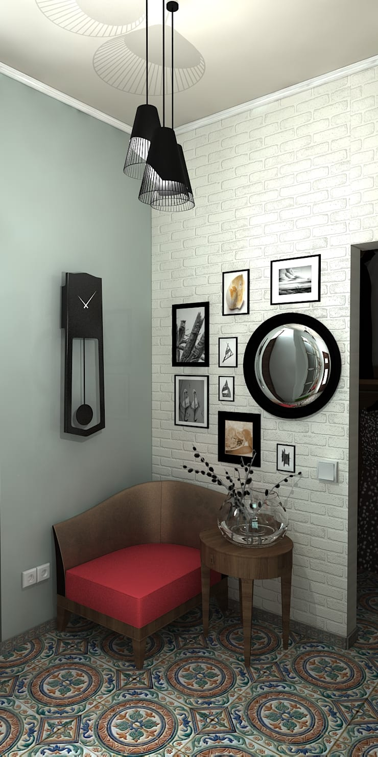 Спальня с балконом и холл в частном доме: Коридор и прихожая в . Автор – AnARCHI
