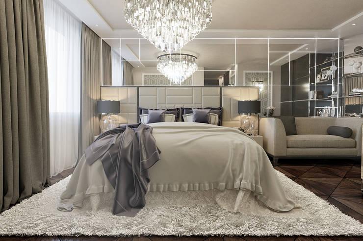 Private Residence in London:  Bedroom by EVGENY BELYAEV DESIGN