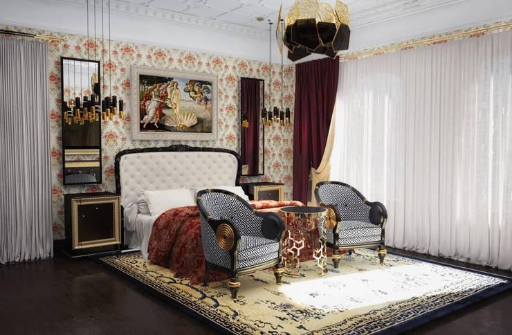 Спальня в загородном доме: Дома в . Автор – Настасья Евглевская