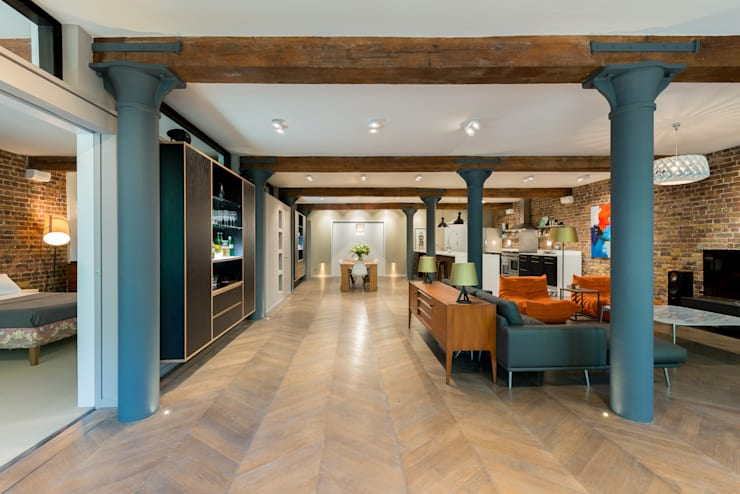 Oliver's Wharf:  Living room by Will Eckersley