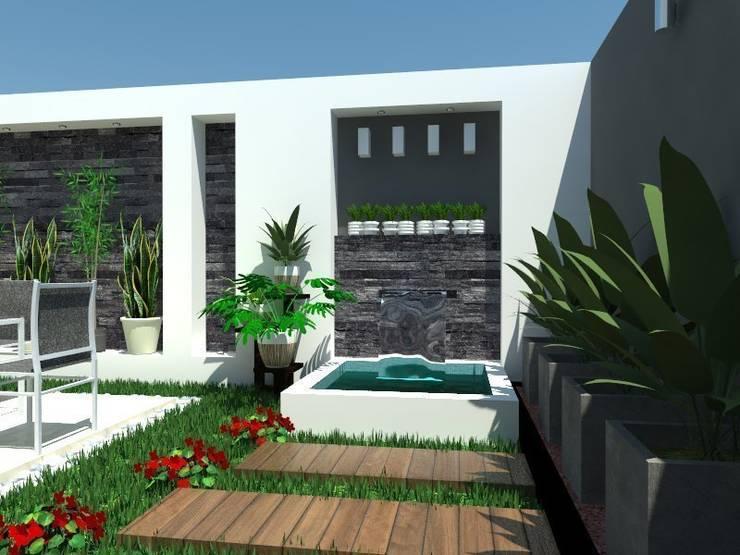 Jardines de estilo minimalista de AurEa 34 -Arquitectura tu Espacio-