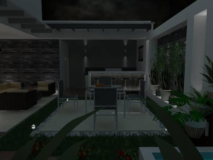 VALLE DE LAS PALMAS: Jardines de estilo  por AurEa 34 -Arquitectura tu Espacio-