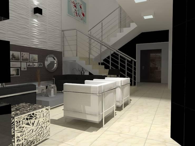 VALLE DE LAS PALMAS: Salas de estilo  por AurEa 34 -Arquitectura tu Espacio-